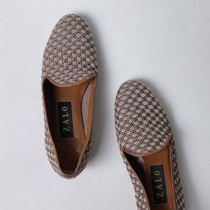 ZALO Basketweave Woven Loafer Flats